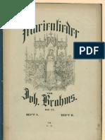 Brahms Opus022 Marienlieder