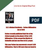 D.C.'s Richest Residents – Forbes Billionaires List of 2013