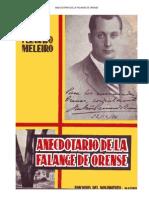 Anecdotario de La Falange de Orense. Fernando Melero