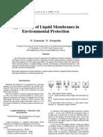 Applicability of Liquid Membranes In
