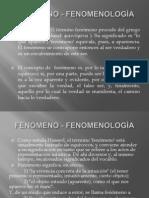Presentación Fenomenología