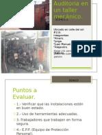 Auditoria en un taller mecánico