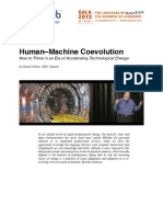 Human Machine Coevolution