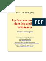 Lévy-Bruhl, L. Les fonctions mentales dans les sociétés inferieures
