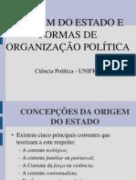 Aula Origem Do Estado e Evolucao Das Formas de Organizacao Politica[1]