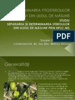 determinarea fitosterolilor bioactivi din uleiul de măsline