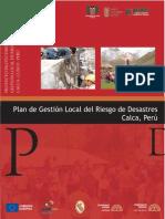 Plan de Gestión de Riesgo - Plan de Gestión Local del Riesgo de Desastres (Calca - Perú)
