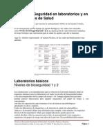 Niveles de Seguridad en Laboratorios y en Instituciones de Salud