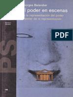Georges Balandier. El Poder en Escenas.