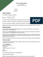 Ds (1) Exercices Corrige C