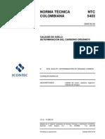 NTC 5403 Determinación de materia orgánica