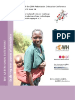 Malaria Artimisinin Book, AE Conf.report