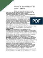 Modelo de Minuta de Sociedad Civil de Responsabilidad Limitada