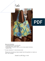 Diana Hobo Bag Plus Printable Patterns