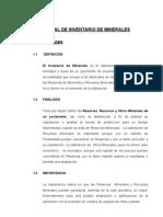 Manual de Inventario de Mineral