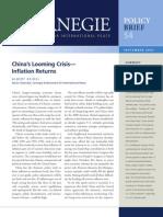 China's Looming Crisis—Inflation Returns