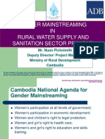 Gender Mainstreaming in Rural Water Supply and Sanitation Sector Project
