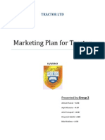 Marketing Plan for TRACTOR - Group 2