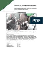 Engine Rebuilding Workshop Machine List