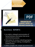 Presentation on Letter Report