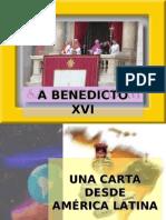 Mensaje a Benedicto XVI