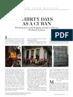 Thirty Days as a Cuban By Patrick Symmes