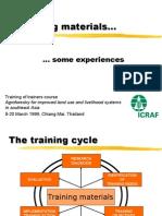 TrainingMaterials-someexperiences
