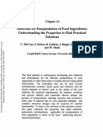 Materials for Encapsulation of Food Ingredients