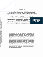 Droplet Size Dependent Solubilization and Crystallization of Lipids in Oil-In-Water Emulsion