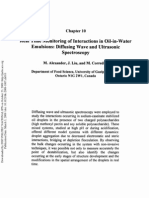 Real Time Monitoring of Interactions in Oil-In-Water Emulsions