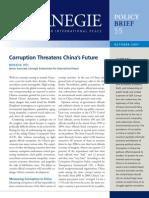 Corruption Threatens China's Future