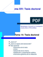 La Tesis Doctoral