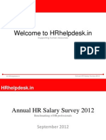 Annual HR Salary Survey 2012 Free Report
