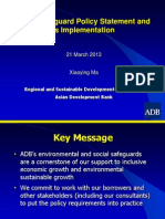 6 ADBGeneral - Safeguards Policy Statement by X. Ma rev 15Mar2013