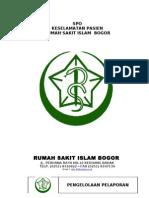 Pedoman Dan Kebijakan Keselamatan Pasien Rumah Sakit Islam Bogor