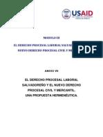 CNJ - El Derecho Procesal Laboral Salvadoreño y el Nuevo Derecho Procesal Civil y Mercantil
