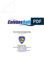 Pre Event Information Celebes Rally