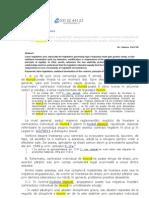 Efectele principiului legalităţii asupra încetării contractului individual de muncă din iniţiativa angajatorului în unele situaţii practice
