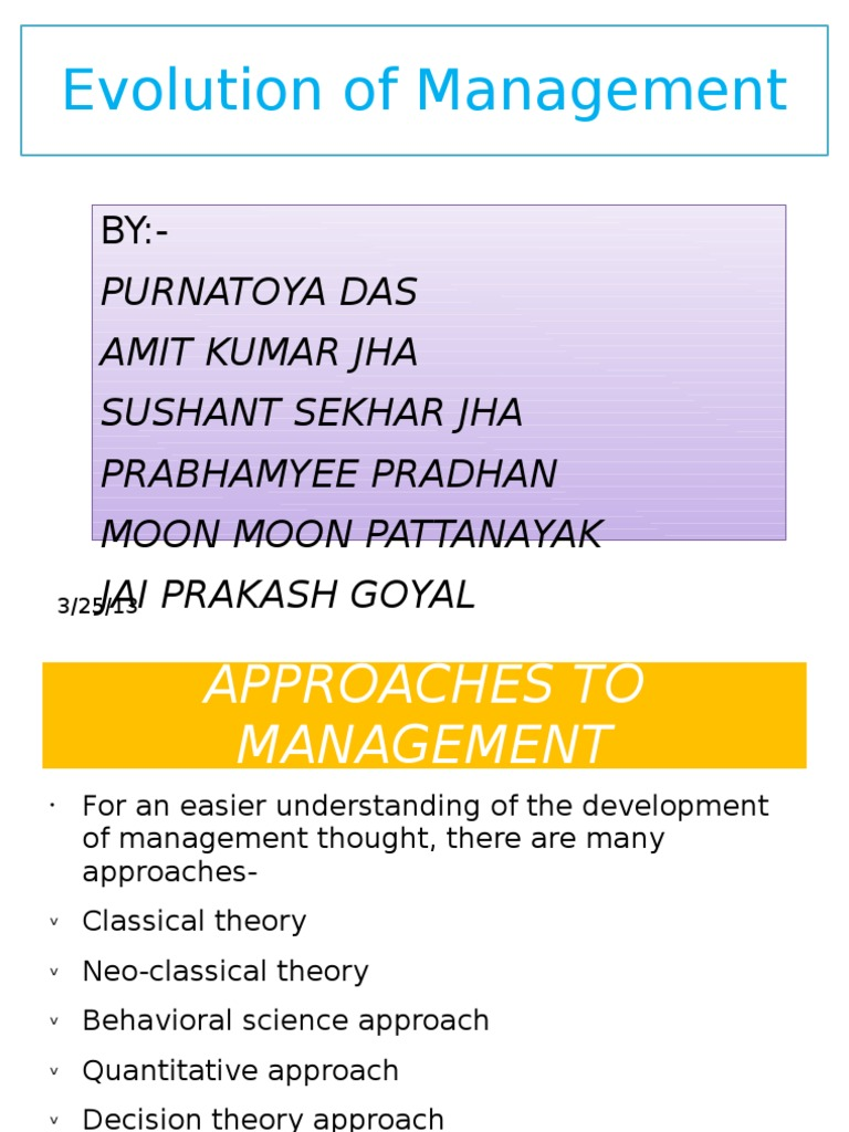 development of management thought classical theory