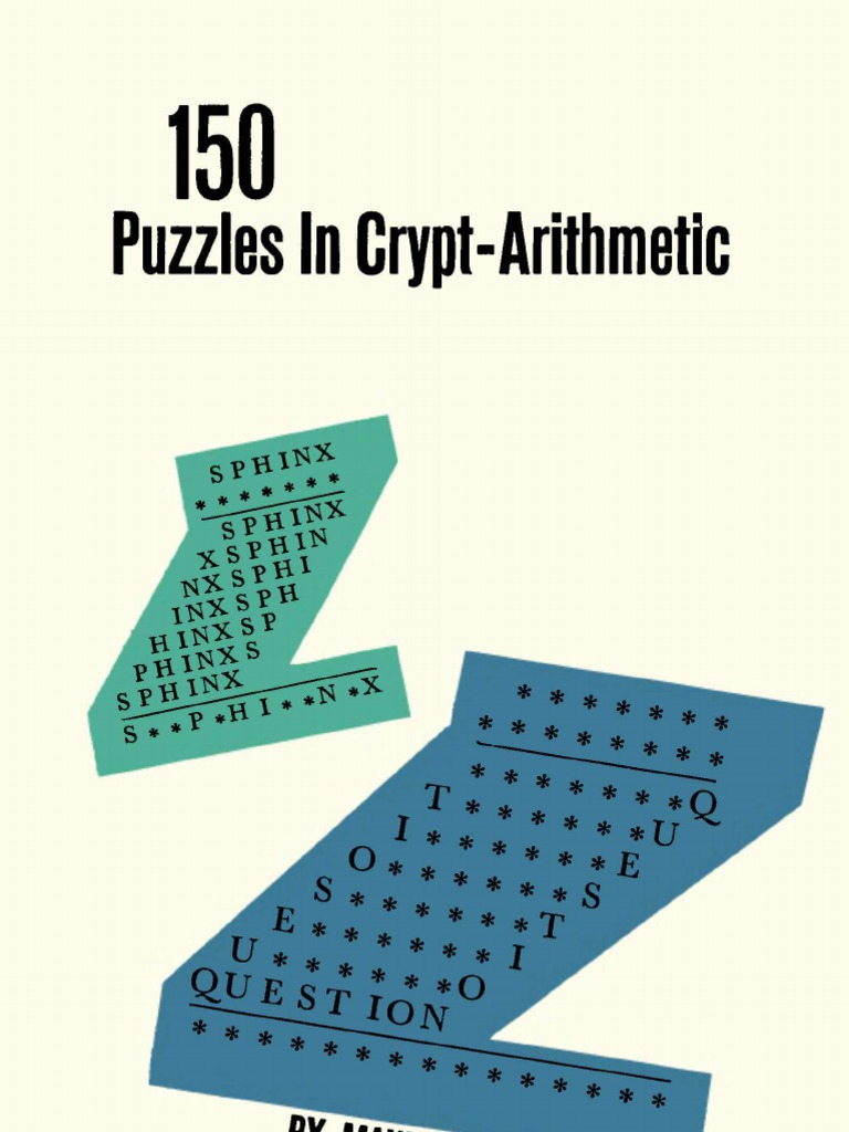 150 puzzles in crypt arithmetic by maxey brooke multiplication 150 puzzles in crypt arithmetic by maxey brooke multiplication division mathematics fandeluxe Images