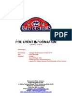 PRE EVENT INFORMATION RALLY OF CELEBES 2013 - 170413 - 1640 hrs