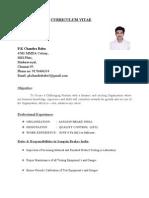 Chandru Resume