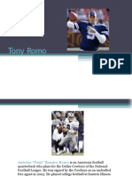 Tony Romo Quarterback Dallas Cowboys NFL