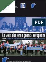 La voix des enseignants européens