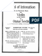 Otakar Sevcik, Op11. School of Intonation on a Harmonic Basis for Violin