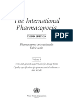 International Pharmacopoeia 2003