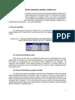 Mercado Laboral_ Marzo 2012