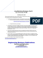 Engineering Marketing Strategies Part IV
