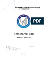 Seminarski Rad Font - Sandic Nenad