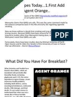 USA Recipes Today...1.First Add Agent Orange..